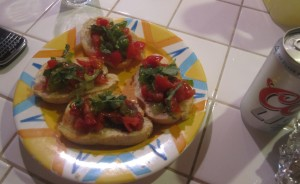Agridude - Bruschetta with Heirloom Tomatoes