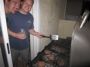 Agridude - Mike and Paul Grilling Burgers
