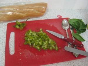 Agridude - Diced Heirloom Tomatoes and Basil Leaves