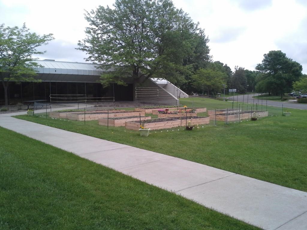 NE View of Garden